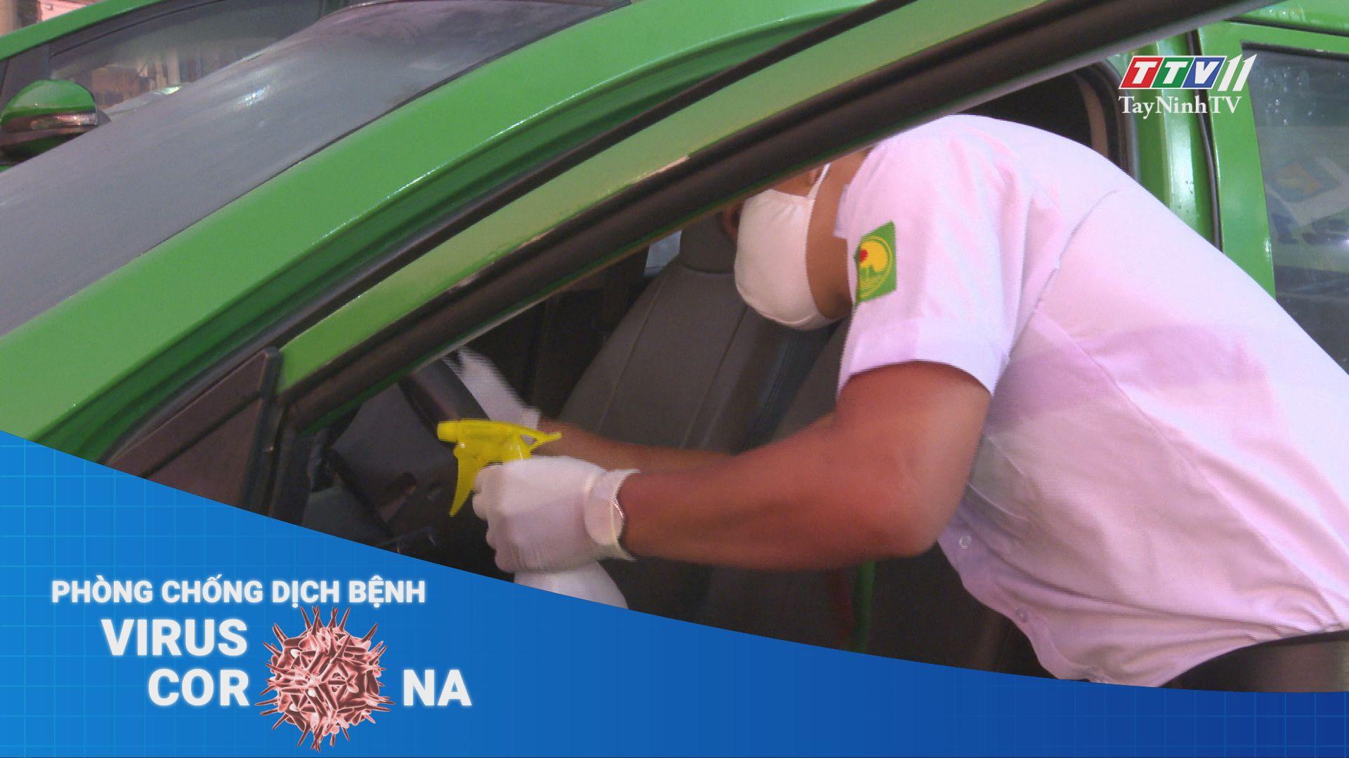 Các hãng taxi chung tay phòng chống dịch Covid-19 | THÔNG TIN DỊCH CÚM COVID-19 | TayNinhTV