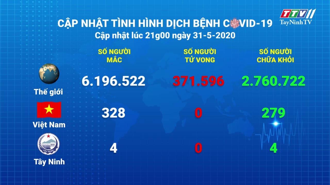 Cập nhật tình hình Covid-19 vào lúc 21 giờ 31-5-2020 | Thông tin dịch Covid-19 | TayNinhTV