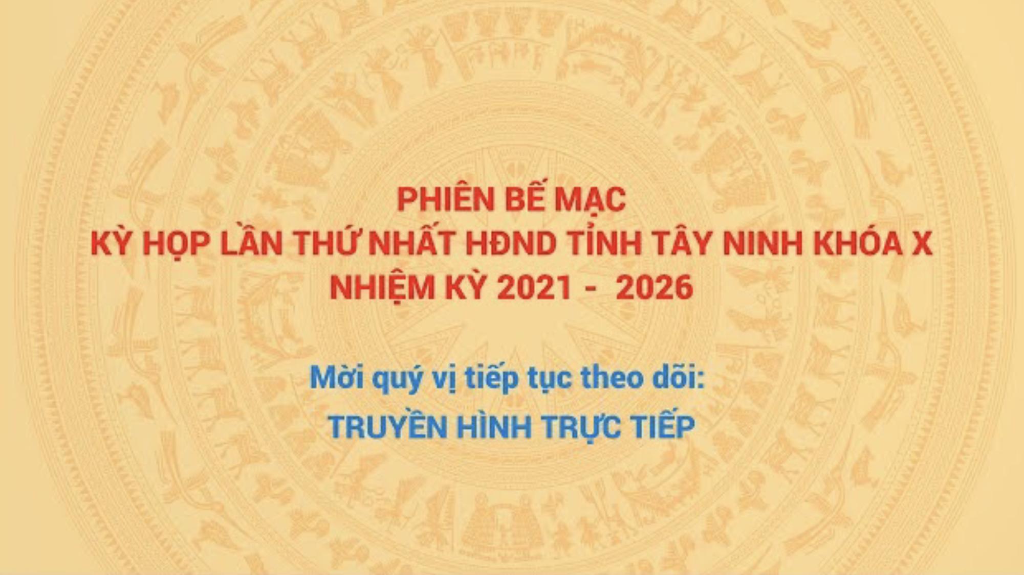 Phiên bế mạc (tiếp theo): Kỳ họp thứ nhất, HĐND tỉnh Tây Ninh, khóa X, nhiệm kỳ 2021 - 2026   Tin tức hôm nay   TâyNinhTV