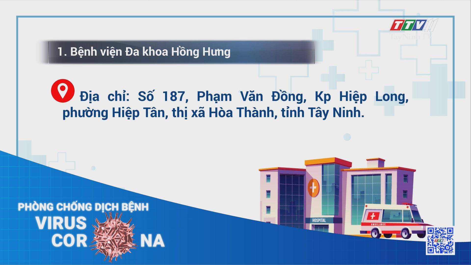 Cập nhật danh sách các cơ sở y tế tư nhân thực hiện xét nghiệm Covid-19 trên địa bàn tỉnh Tây Ninh | THÔNG TIN DỊCH COVID-19 | TayNinhTV