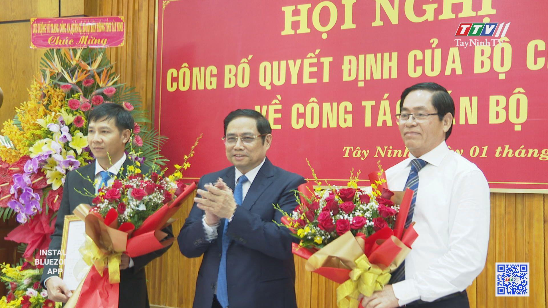 Công bố Quyết định của Bộ Chính trị về công tác cán bộ | TayNinhTV