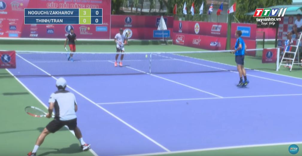 GIẢI QUẦN VỢT QUỐC TẾ ITF WORLD TENNIS M25 TAY NINH HAI DANG CUP 2019 | Rio NOGUCHI (JPN)/Alexey ZAKHAROV (RUS) VS HUYNH THINH (VIE)/TIEN THINH TRAN (VIE)