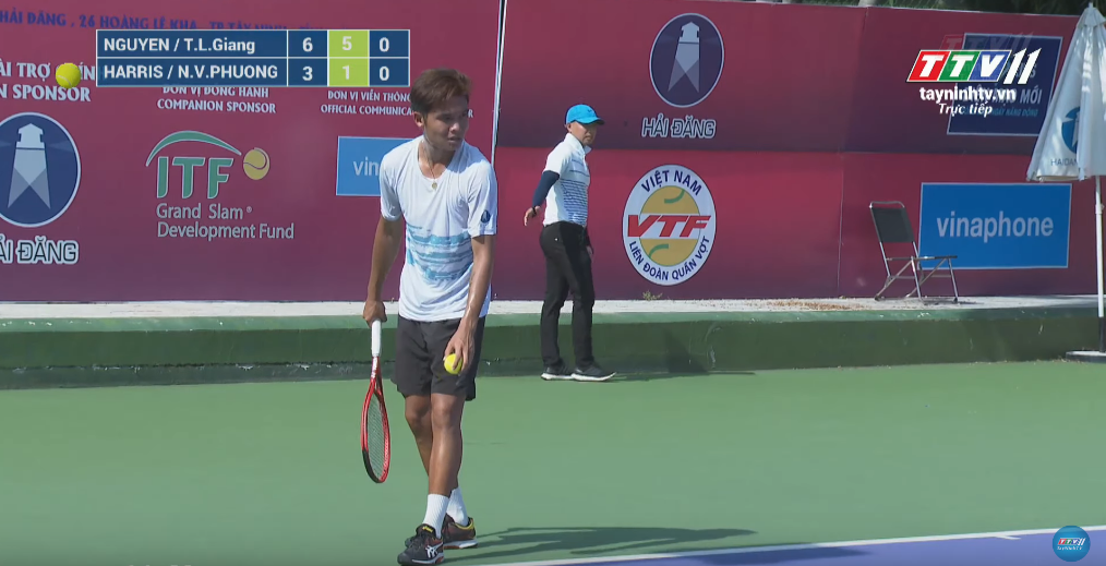 GIẢI QUẦN VỢT QUỐC TẾ ITF WORLD TENNIS M25 TAY NINH HAI DANG CUP 2019 | Daniel NGUYEN (USA)/Linh Giang TRINH (VIE) VS Billy HARRIS (GBR)/Phuong Van NGUYEN (VIE)