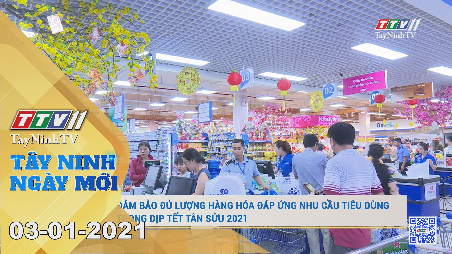 Tây Ninh Ngày Mới 03-01-2021 | Tin tức hôm nay | TayNinhTV