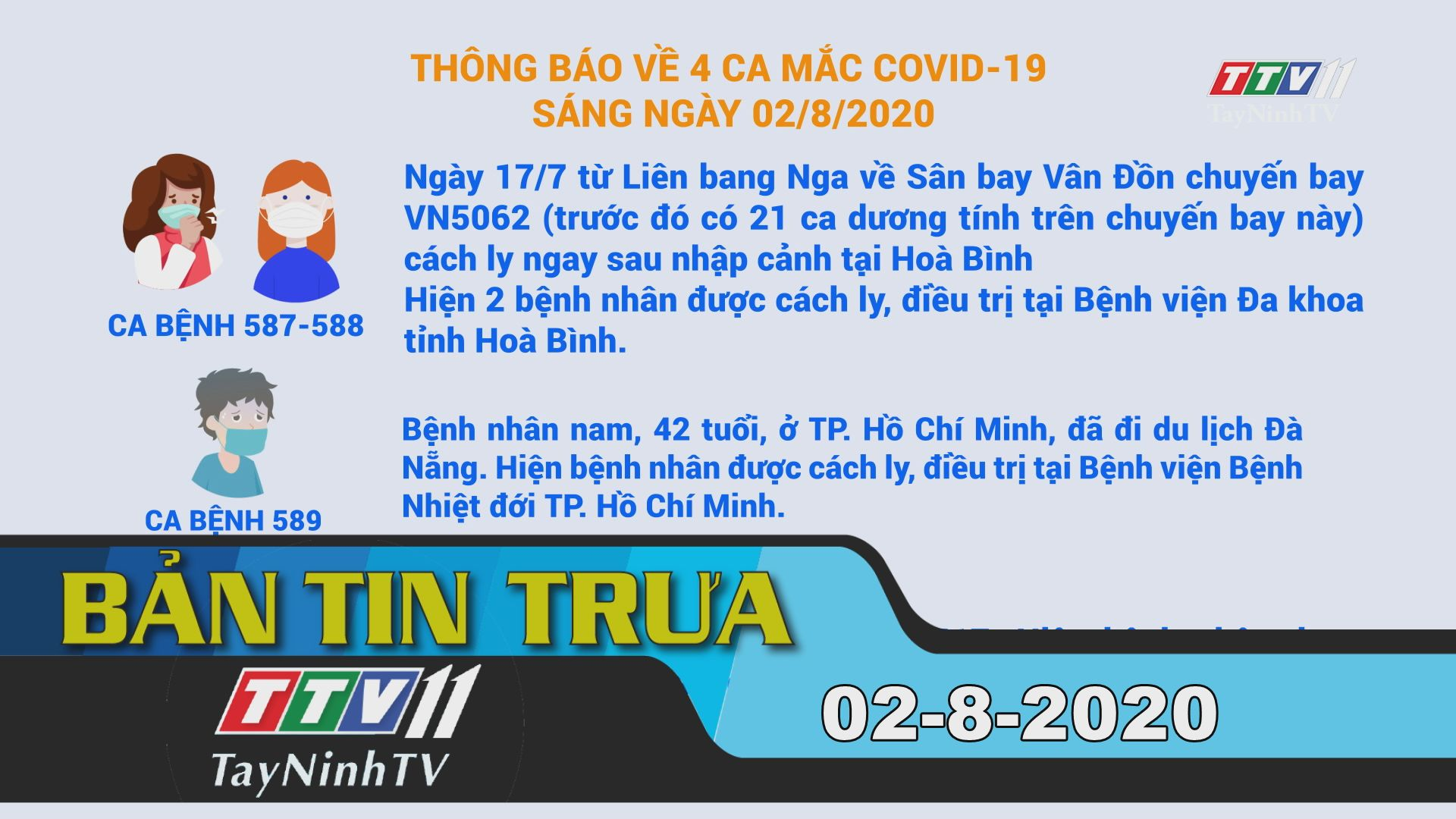 Bản tin trưa 02-8-2020 | Tin tức hôm nay | TayNinhTV