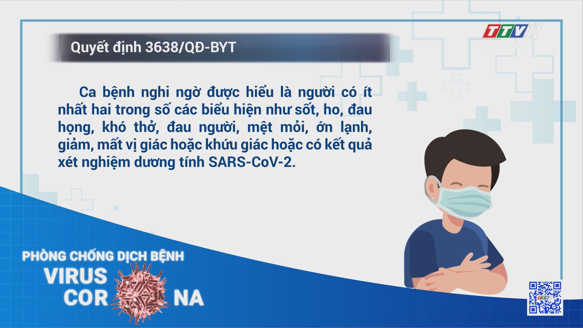 Hướng dẫn mới về ca nghi nhiễm COVID-19, cách thức xác định F1, F2 | THÔNG TIN DỊCH COVID-19 | TayNinhTV