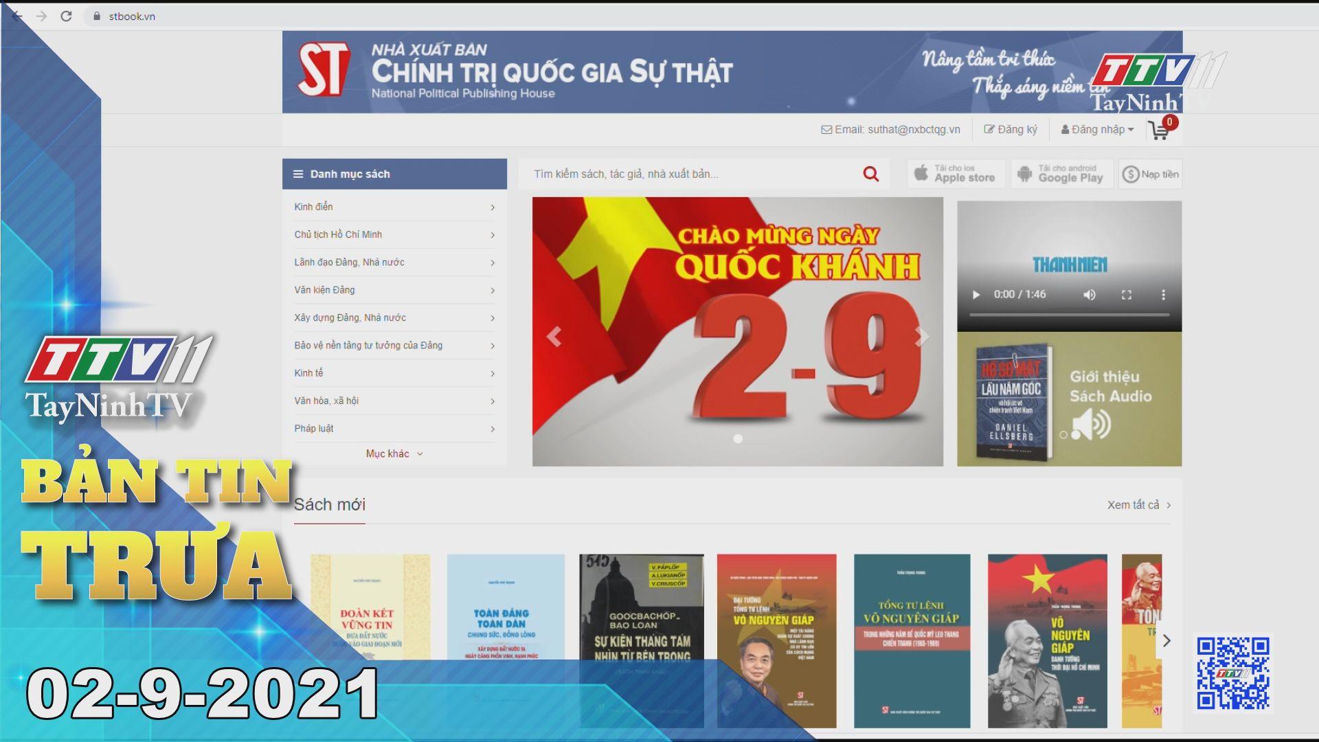 Bản tin trưa 02-9-2021 | Tin tức hôm nay | TayNinhTV