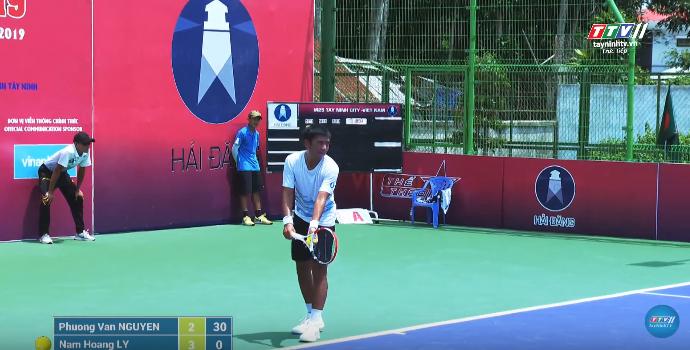 GIẢI QUẦN VỢT QUỐC TẾ ITF WORLD TENNIS TOUR M25 TAY NINH HAI DANG CUP 2019  Phuong Van NGUYEN (VIE) VS Nam Hoang LY (VIE)