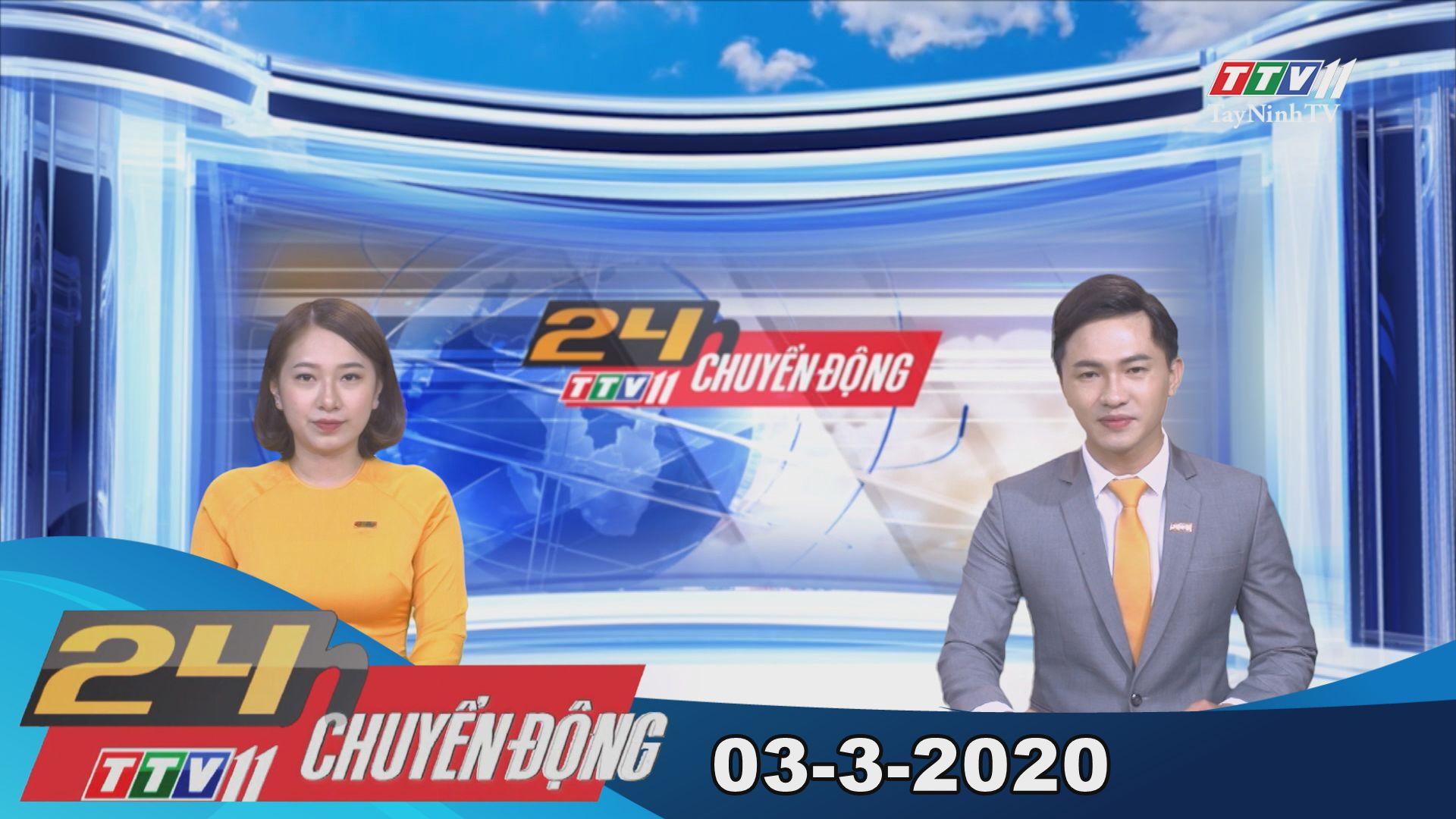 24h Chuyển động 03-3-2020   Tin tức hôm nay   TayNinhTV