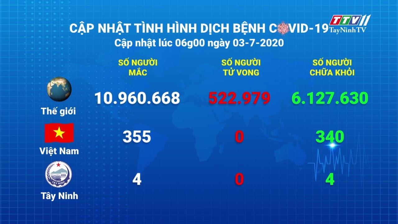 Cập nhật tình hình Covid-19 vào lúc 6 giờ 03-7-2020 | Thông tin dịch Covid-19 | TayNinhTV