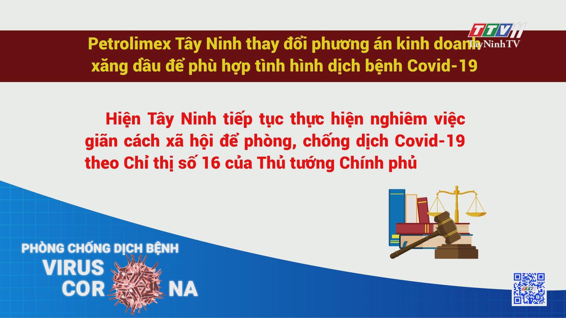 Petrolimex Tây Ninh thay đổi phương án kinh doanh xăng dầu để phù hợp tình hình dịch bệnh Covid-19 | THÔNG TIN DỊCH COVID-19 | TayNinhTV