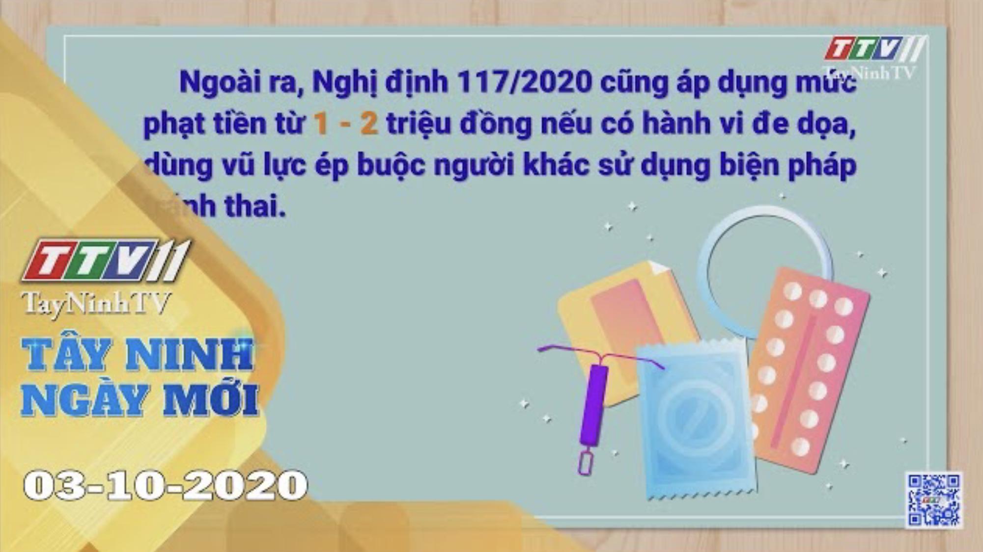 Tây Ninh Ngày Mới 03-10-2020 | Tin tức hôm nay | TayNinhTV