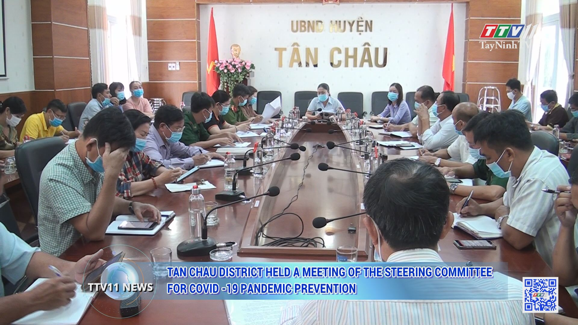 Tan Chau district held a meeting of the Steering Committee for Covid -19 pandemic prevention | TTVNEWS | TayNinhTV Today