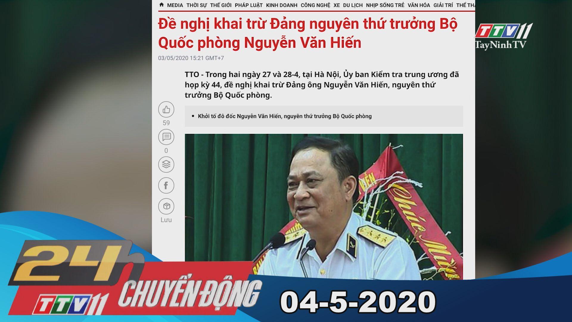 24h Chuyển động 04-5-2020 | Tin tức hôm nay | TayNinhTV