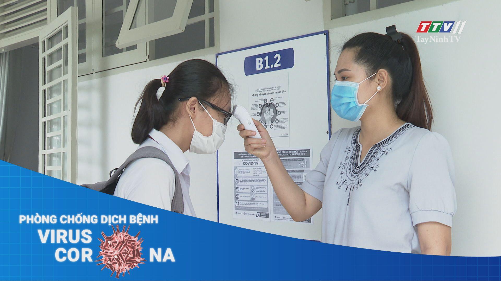 Đảm bảo các điều kiện cho học sinh trở lại trường   THÔNG TIN DỊCH CÚM COVID-19   TayNinhTV