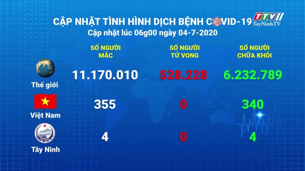 Cập nhật tình hình Covid-19 vào lúc 6 giờ 04-7-2020 | Thông tin dịch Covid-19 | TayNinhTV