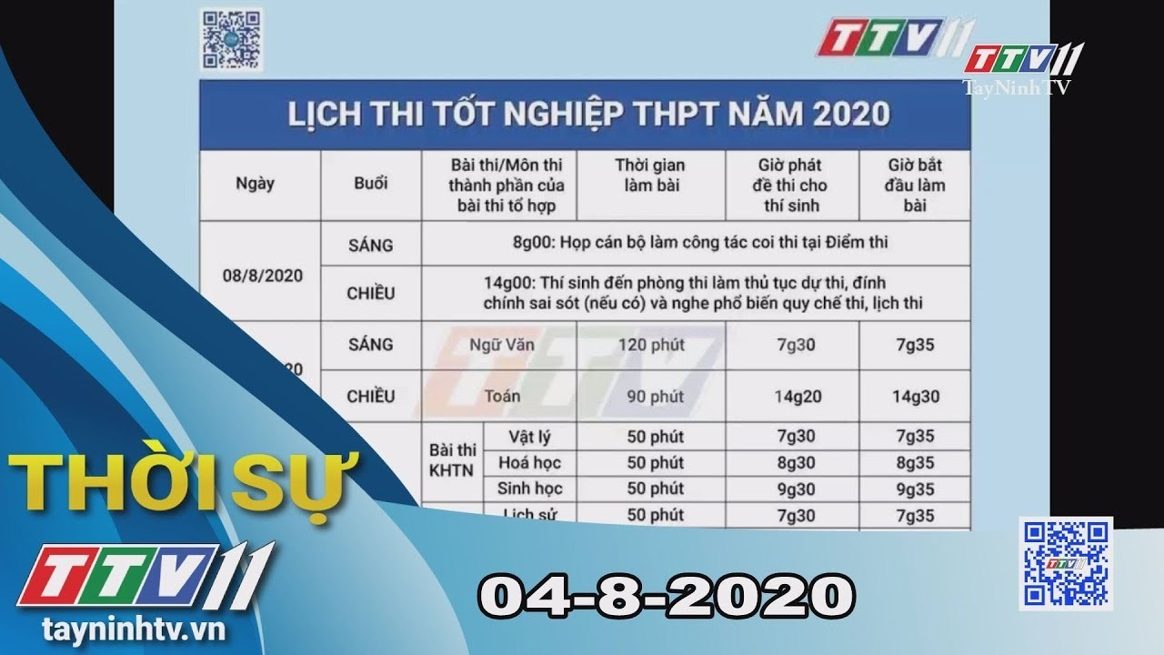 Thời sự Tây Ninh 04-8-2020 | Tin tức hôm nay | TayNinhTV