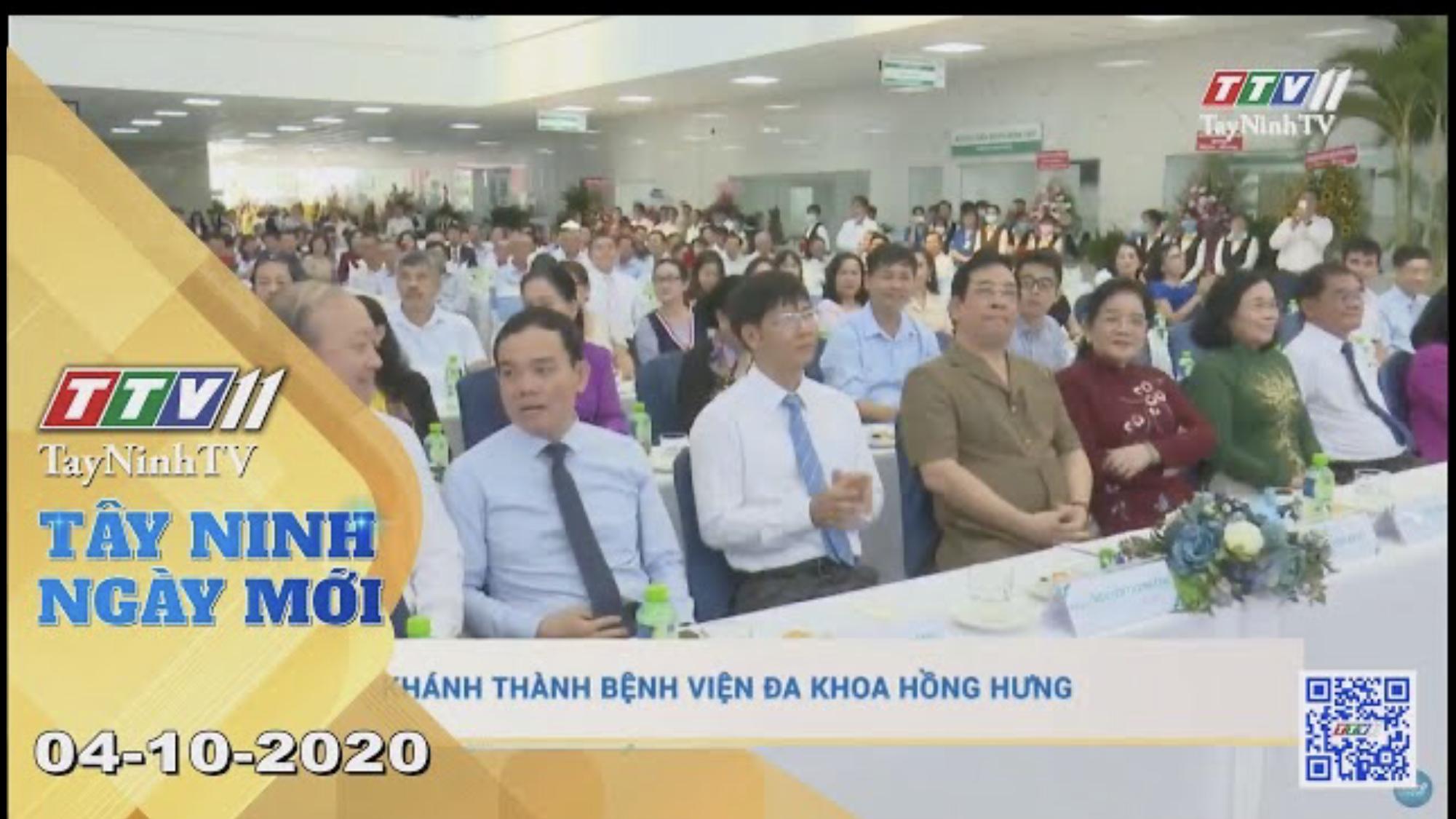 Tây Ninh Ngày Mới 04-10-2020 | Tin tức hôm nay | TayNinhTV