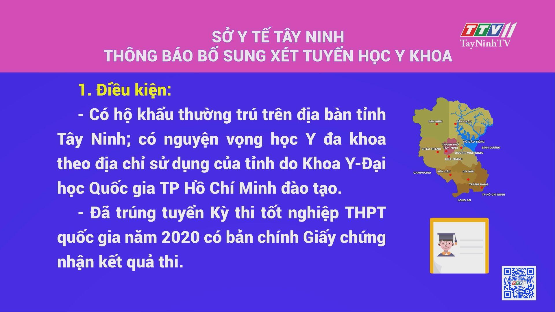 Sở Y tế Tây Ninh thông báo bổ sung xét tuyển học y khoa | TayNinhTV