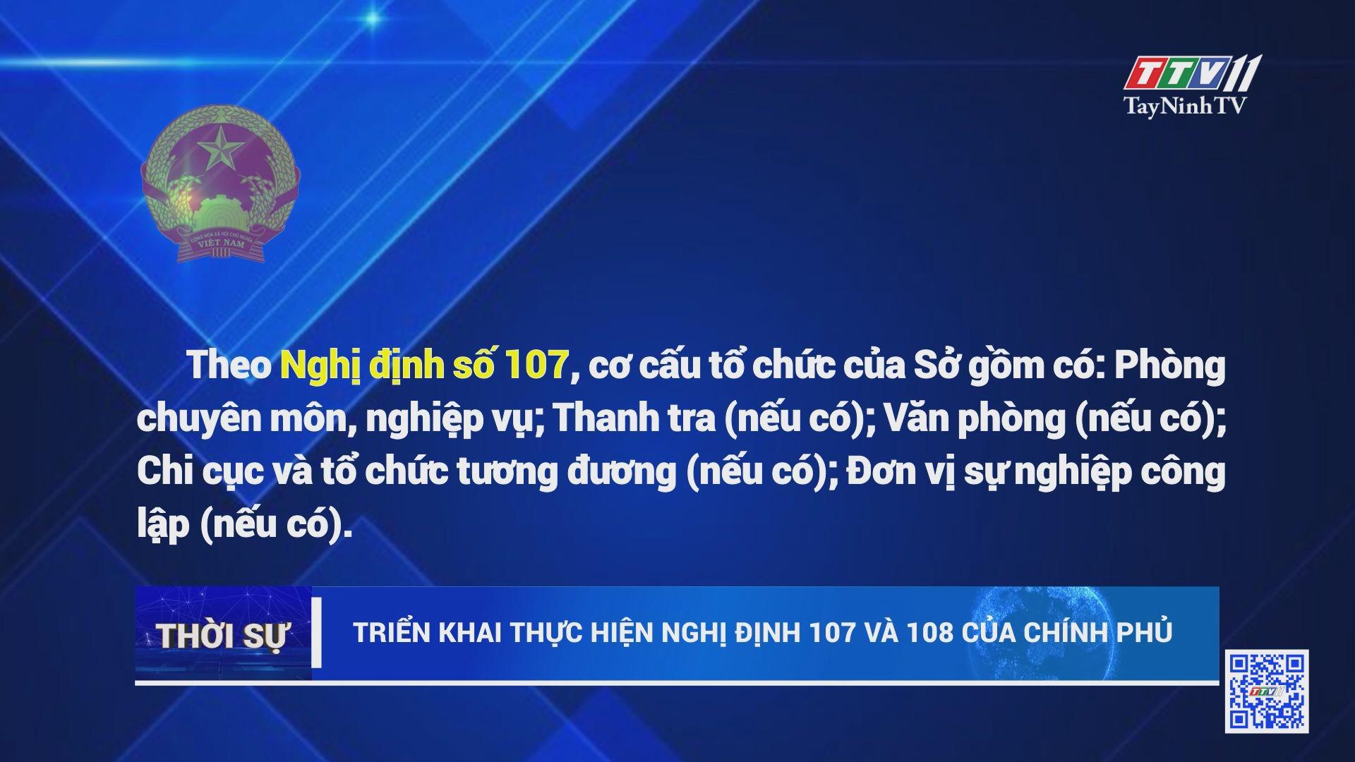 Triển khai thực hiện Nghị định 107 và 108 của Chính phủ | TayNinhTV