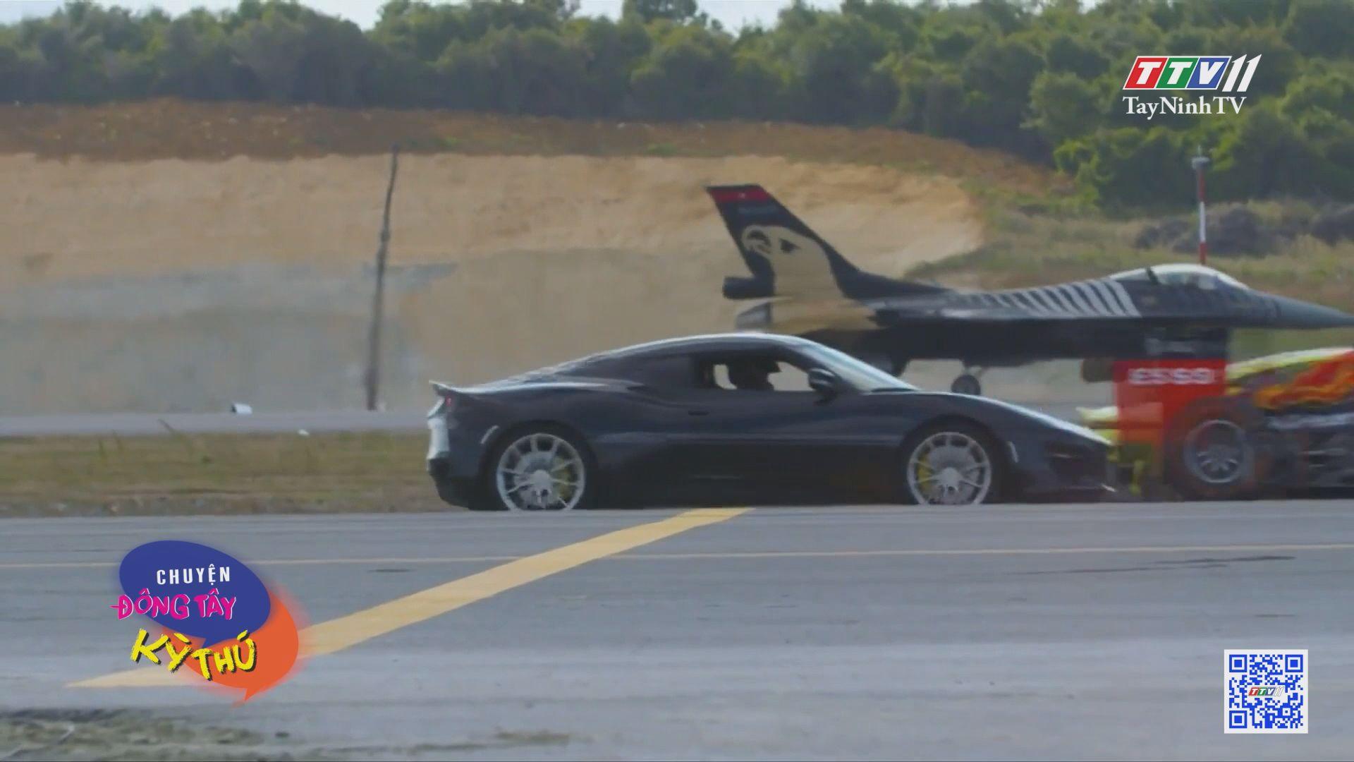 Siêu xe mô tô đo tốc độ với máy bay chiến đấu | CHUYỆN ĐÔNG TÂY KỲ THÚ | TayNinhTV