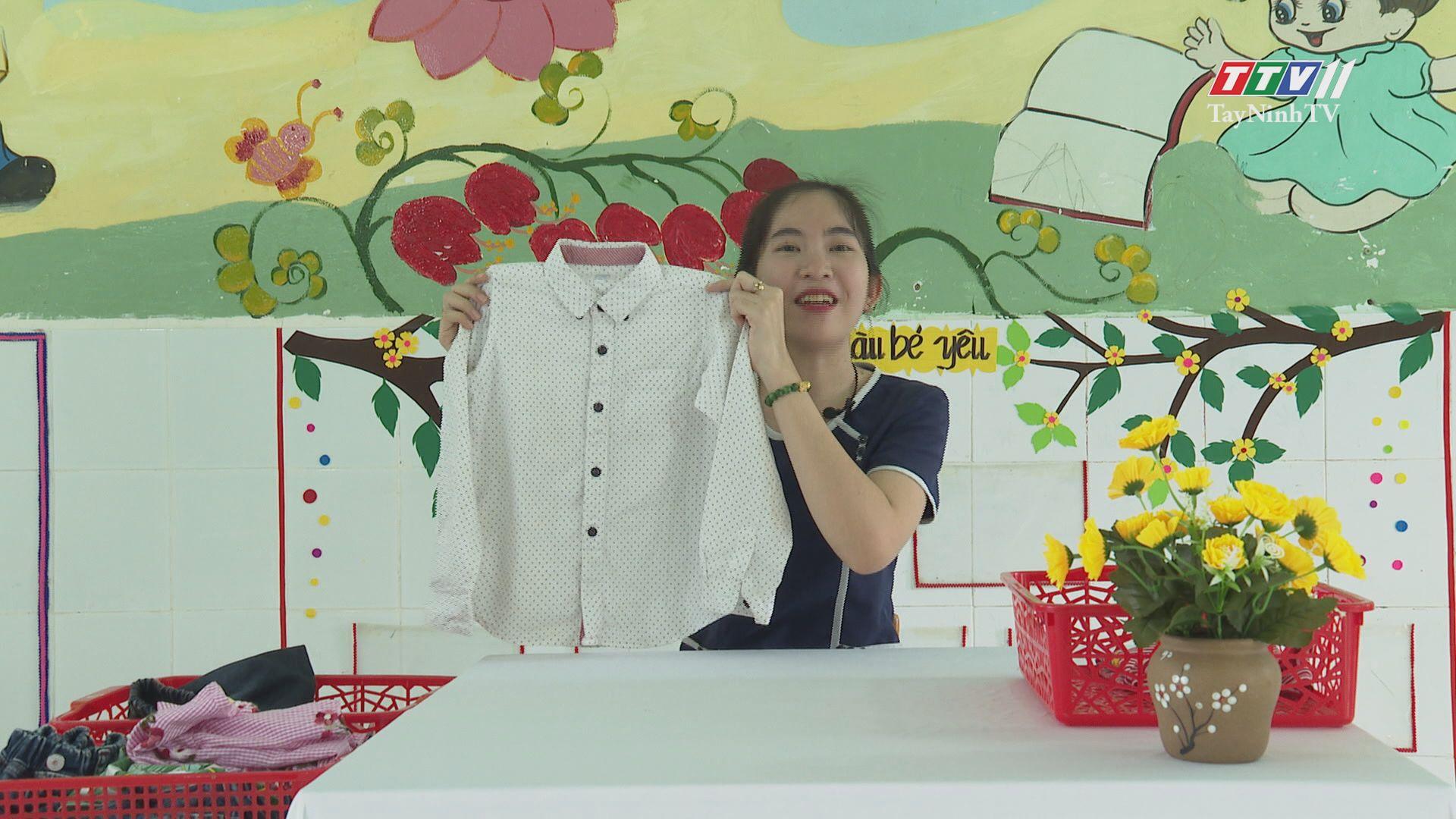 Rèn luyện kỹ năng gấp quần áo | BÉ VUI HỌC MÙA COVID | TayNinhTV