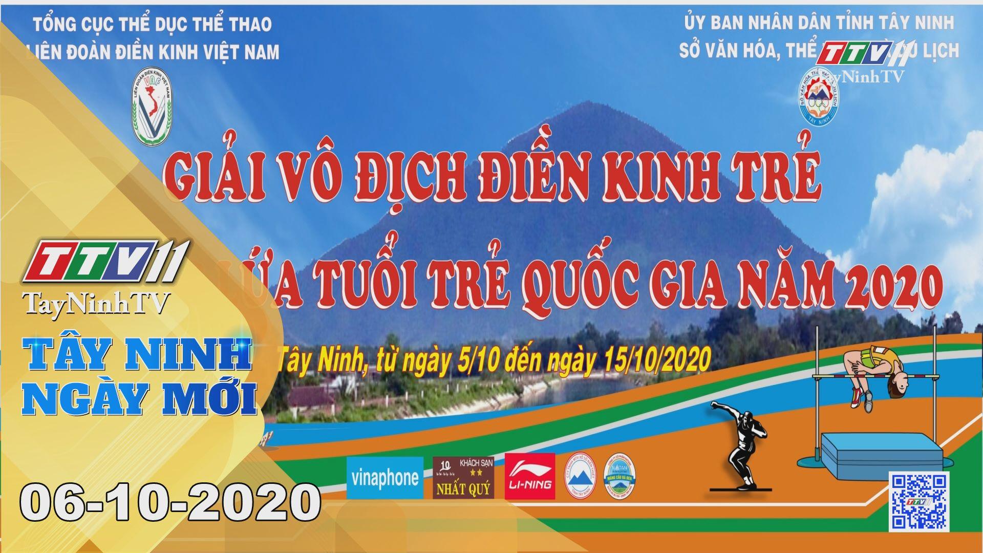 Tây Ninh Ngày Mới 06-10-2020 | Tin tức hôm nay | TayNinhTV