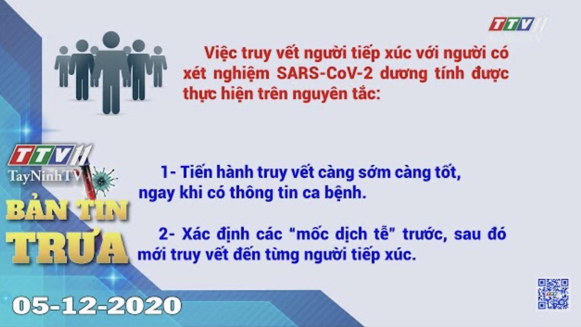 Bản tin trưa 05-12-2020 | Tin tức hôm nay | TayNinhTV
