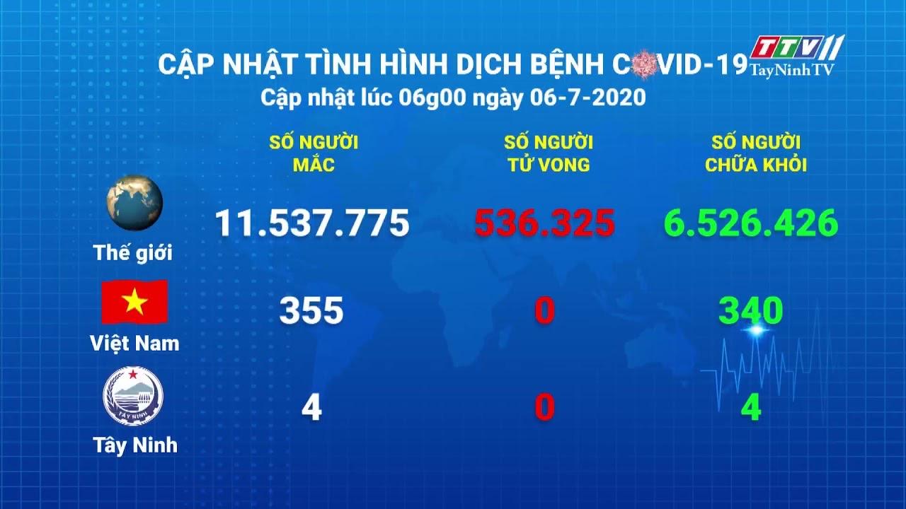 Cập nhật tình hình Covid-19 vào lúc 6 giờ 06-7-2020 | Thông tin dịch Covid-19 | TayNinhTV