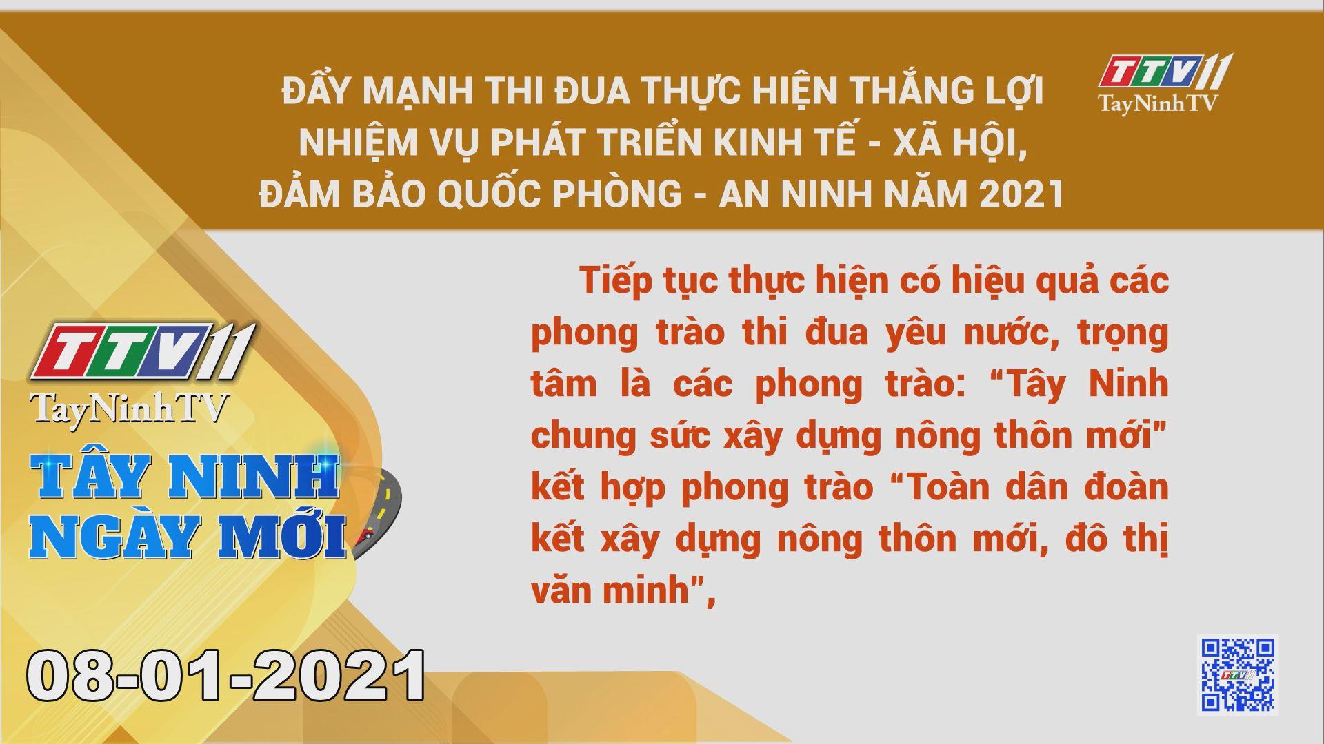 Tây Ninh Ngày Mới 08-01-2021 | Tin tức hôm nay | TayNinhTV