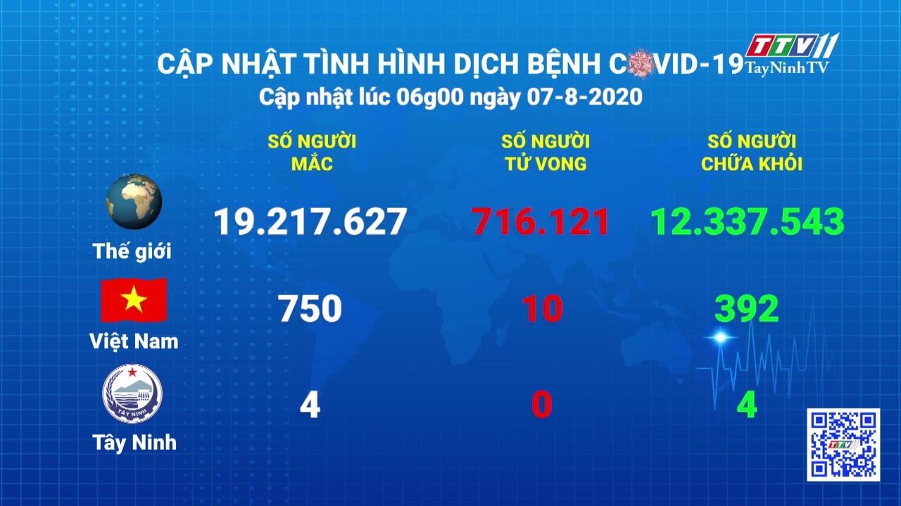 Cập nhật tình hình Covid-19 vào lúc 06 giờ 07-8-2020 | Thông tin dịch Covid-19 | TayNinhTV