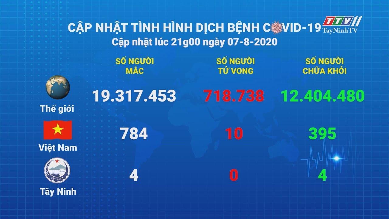 Cập nhật tình hình Covid-19 vào lúc 21 giờ 07-8-2020 | Thông tin dịch Covid-19 | TayNinhTV