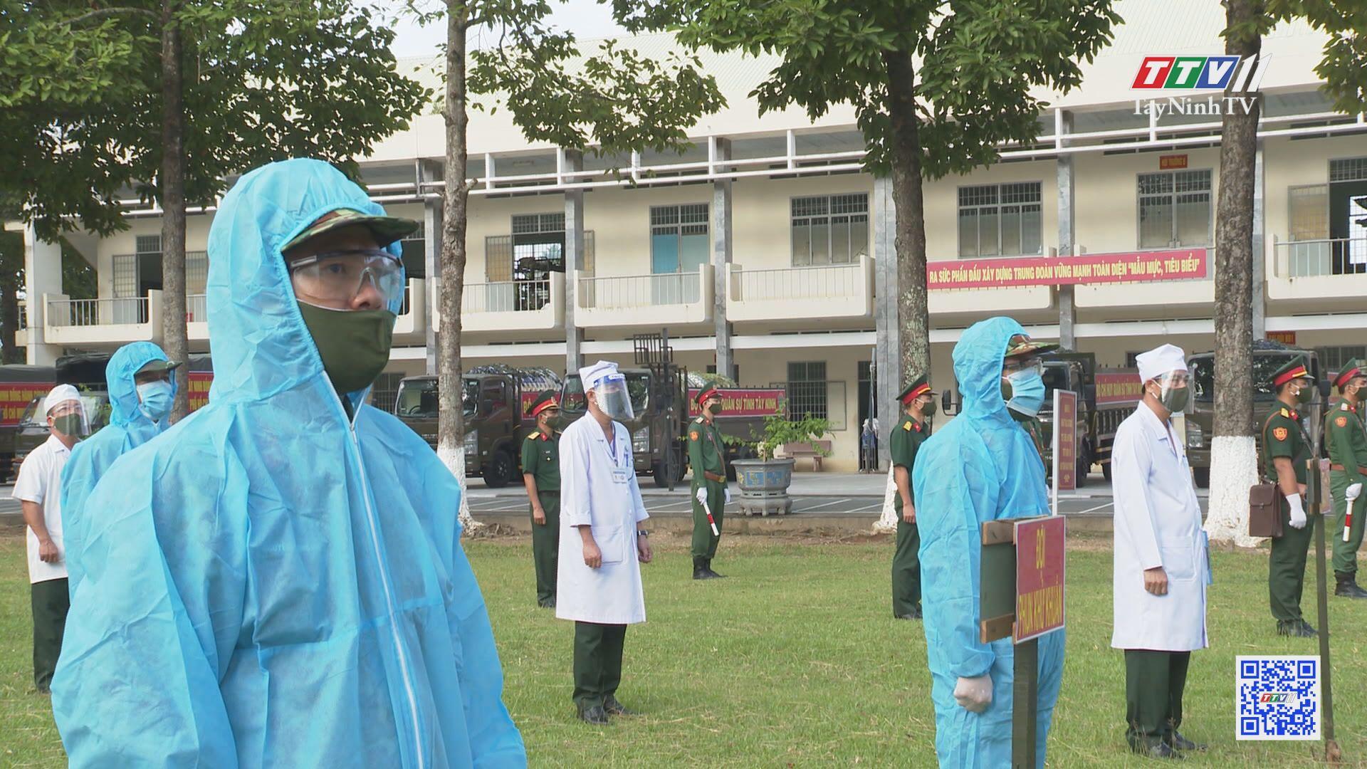 Lực lượng vũ trang tỉnh Tây Ninh chung tay cùng địa phương chống dịch Covid-19   PHÁP LUẬT DÂN QUÂN TỰ VỆ   TayNinhTV