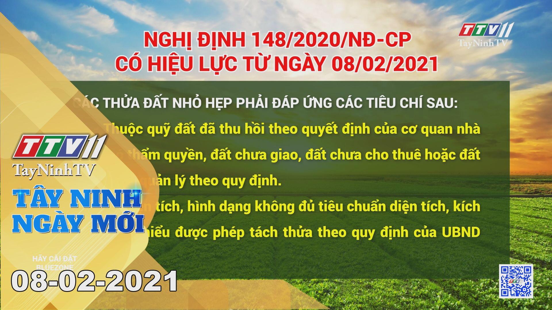 Tây Ninh Ngày Mới 08-02-2021   Tin tức hôm nay   TayNinhTV