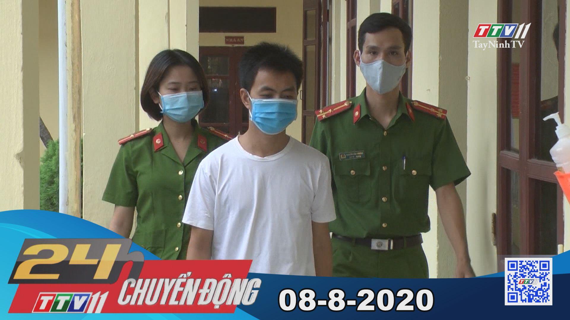 24h Chuyển động 08-8-2020 | Tin tức hôm nay | TayNinhTV