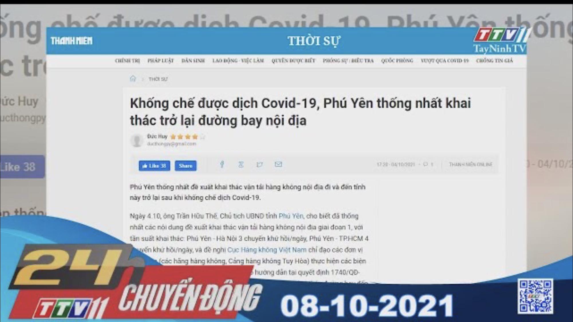 24H CHUYỂN ĐỘNG 08/10/2021 | Tin tức hôm nay | TayNinhTV