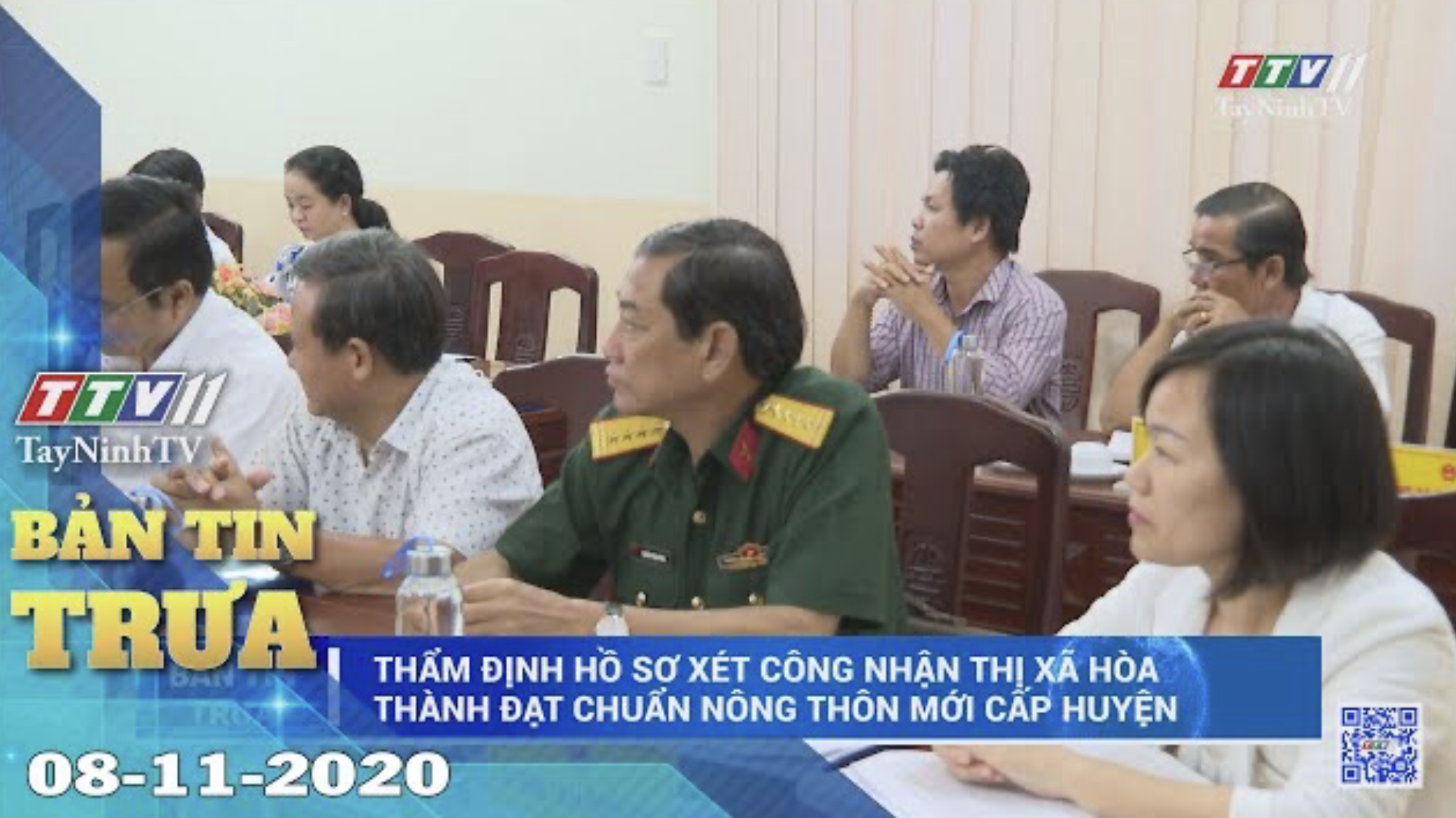 Bản tin trưa 08-11-2020 | Tin tức hôm nay | TayNinhTV