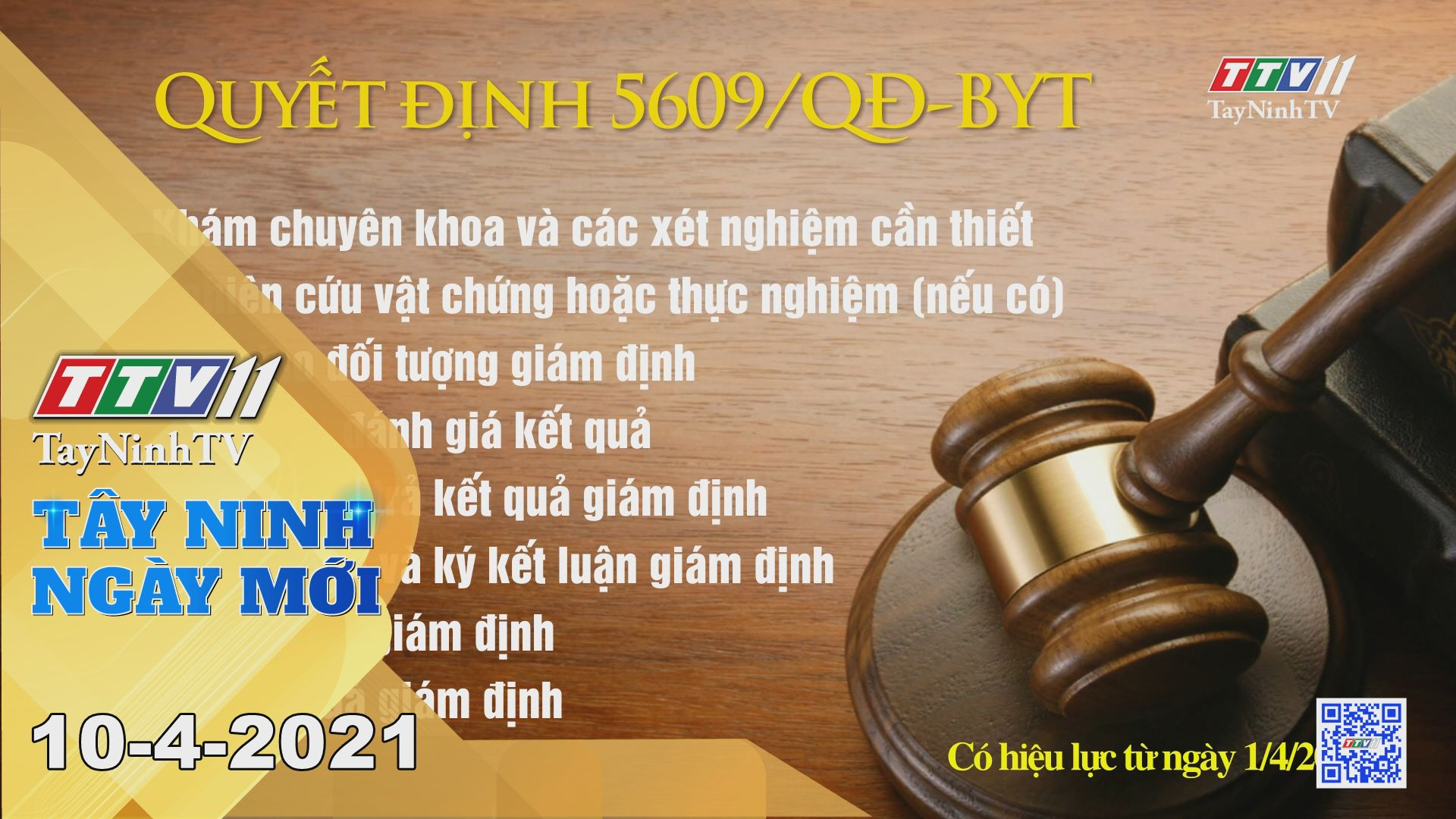 Tây Ninh Ngày Mới 10-4-2021 | Tin tức hôm nay | TayNinhTV