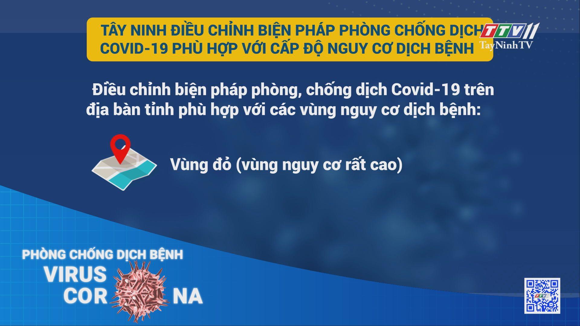 Tây Ninh điều chỉnh biện pháp phòng chống dịch Covid-9 phù hợp với cấp độ nguy cơ dịch bệnh | THÔNG TIN DỊCH COVID-19 | TayNinhTV