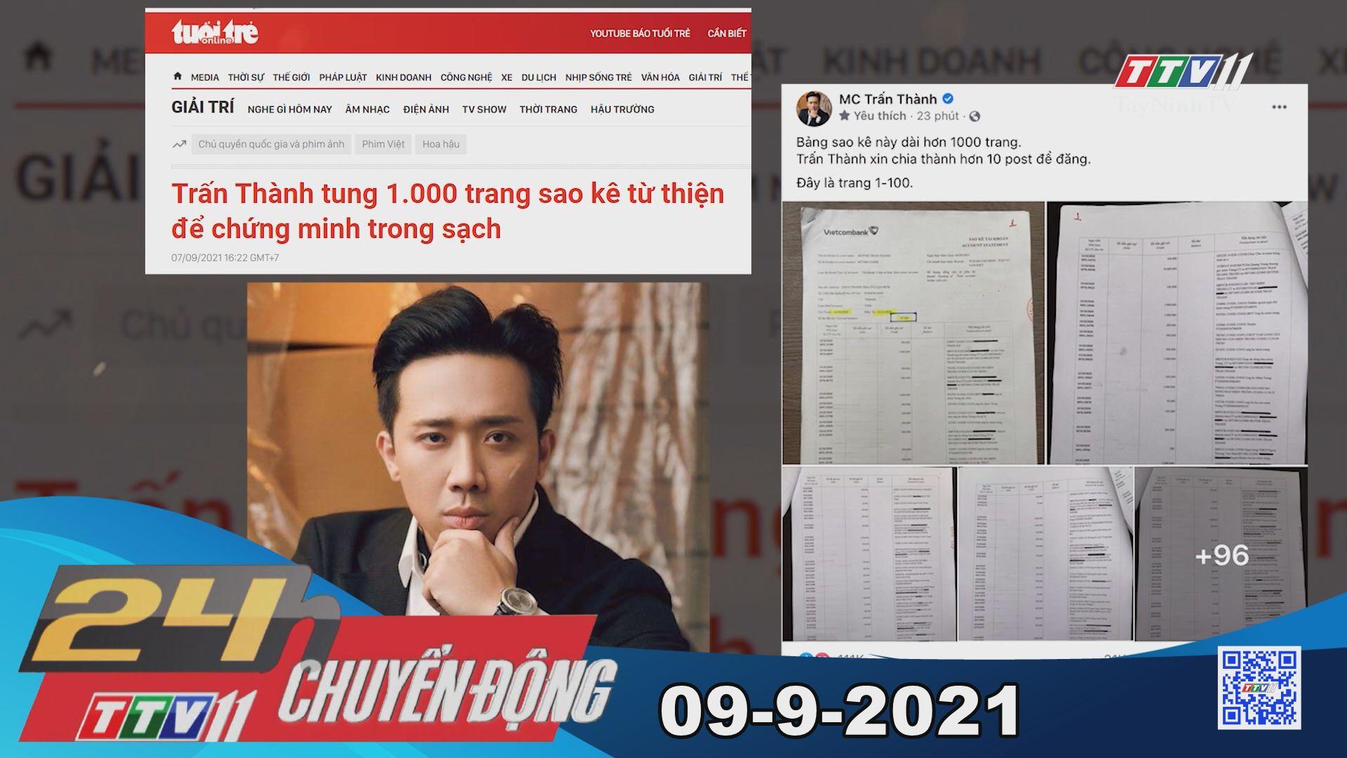 24h Chuyển động 09-9-2021 | Tin tức hôm nay | TayNinhTV