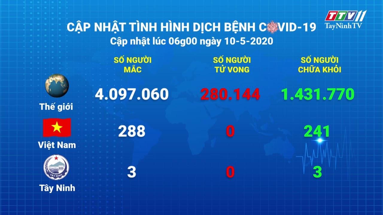 Cập nhật tình hình Covid-19 vào lúc 06 giờ 10-5-2020 | Thông tin dịch Covid-19 | TayNinhTV