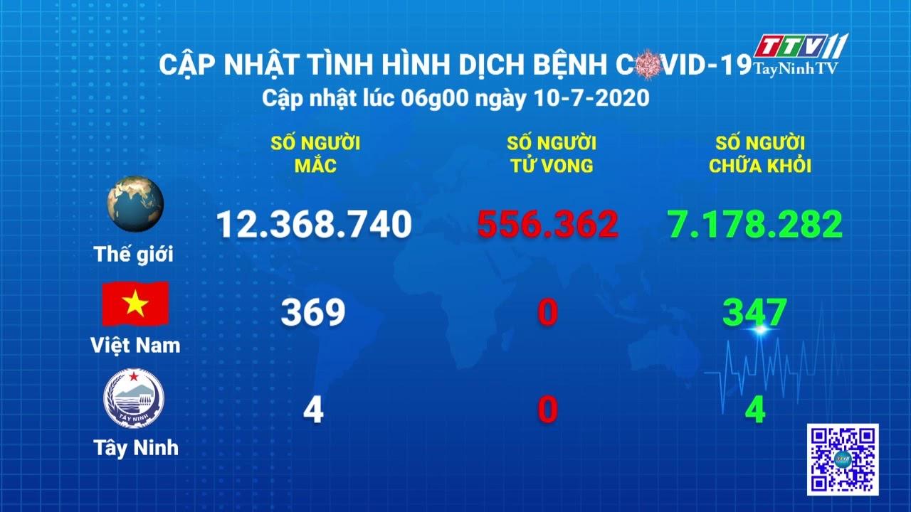 Cập nhật tình hình Covid-19 vào lúc 6 giờ 10-7-2020   Thông tin dịch Covid-19   TayNinhTV