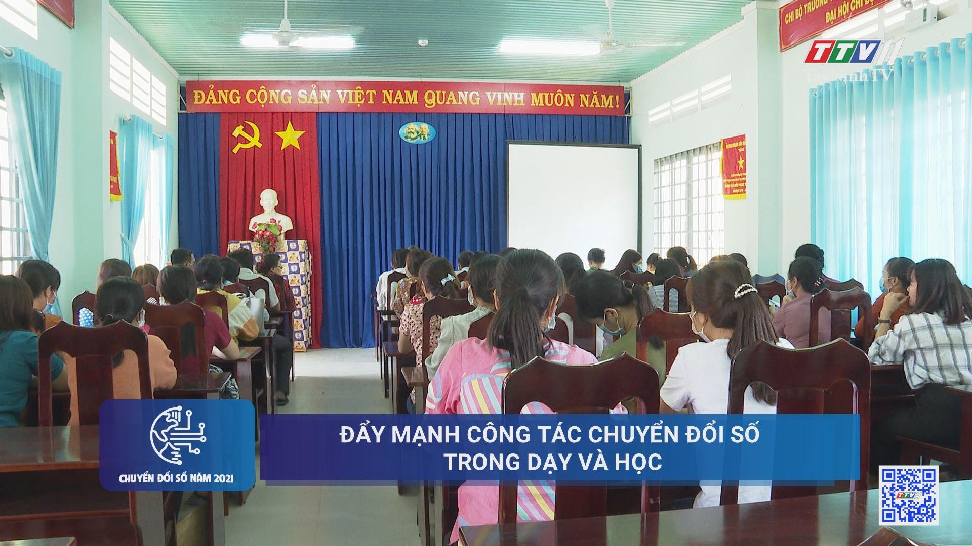 Đẩy mạnh công tác chuyển đổi số trong dạy và học | CHUYỂN ĐỔI SỐ | TayNinhTV