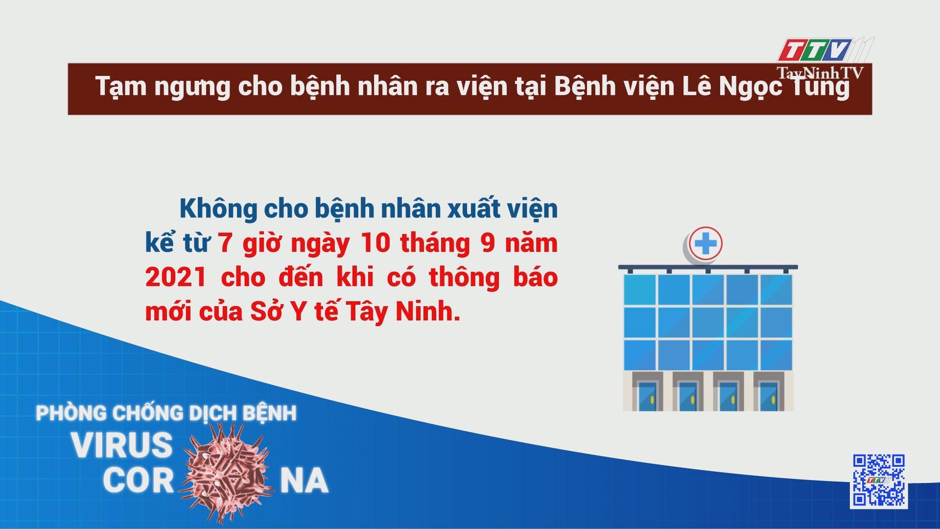 Tạm ngưng cho bệnh nhân ra viện tại Bệnh viện Lê Ngọc Tùng | TayNinhTV