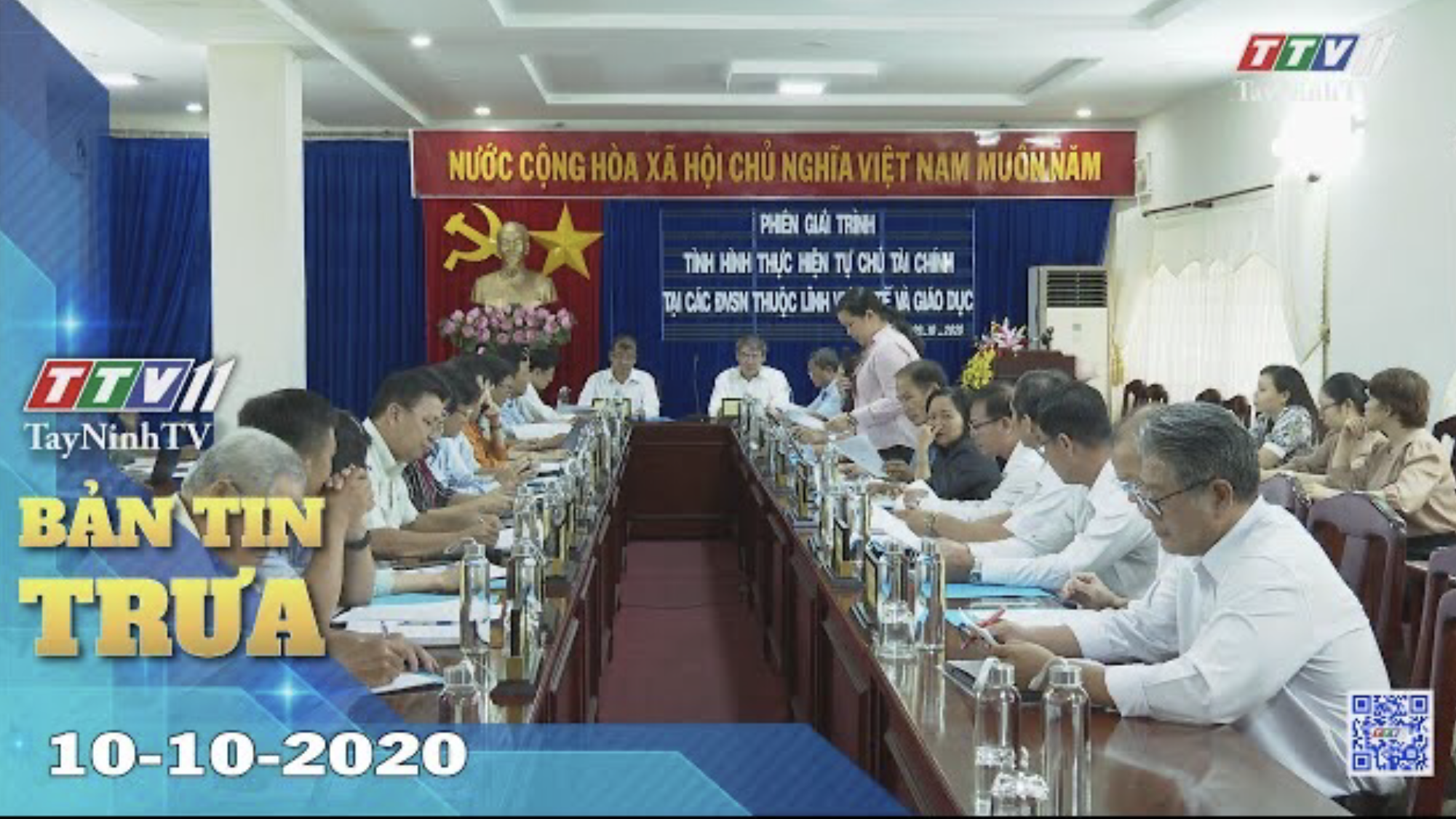 Bản tin trưa 10-10-2020 | Tin tức hôm nay | TayNinhTV