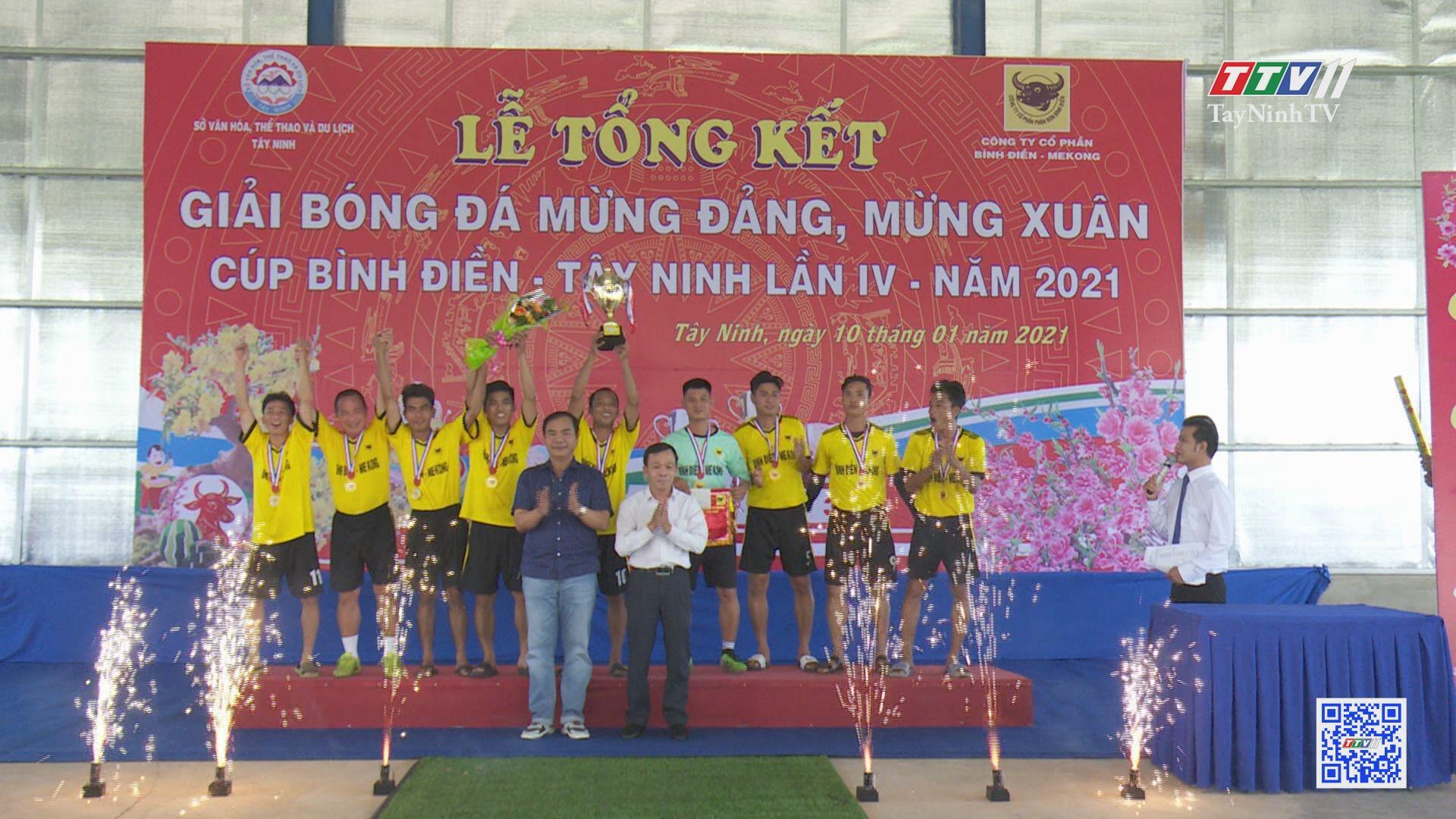 Giải bóng đá mừng Đảng, mừng xuân cúp Bình Điền Tây Ninh sân chơi hấp dẫn của bóng đá phong trào | BẢN TIN THỂ THAO | TayNinhTV