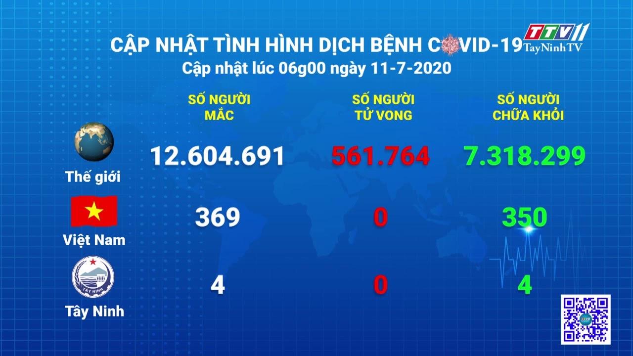 Cập nhật tình hình Covid-19 vào lúc 6 giờ 11-7-2020   Thông tin dịch Covid-19   TayNinhTV