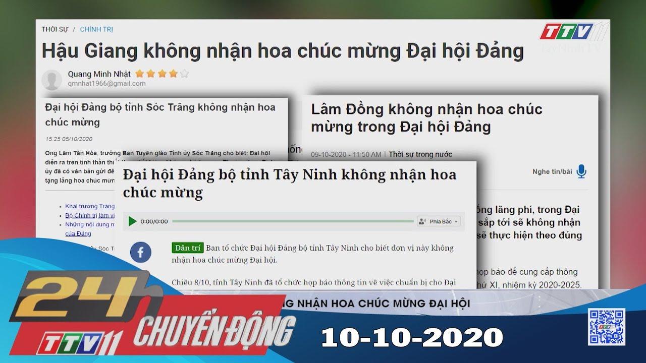 24h Chuyển động 10-10-2020 | Tin tức hôm nay | TayNinhTV