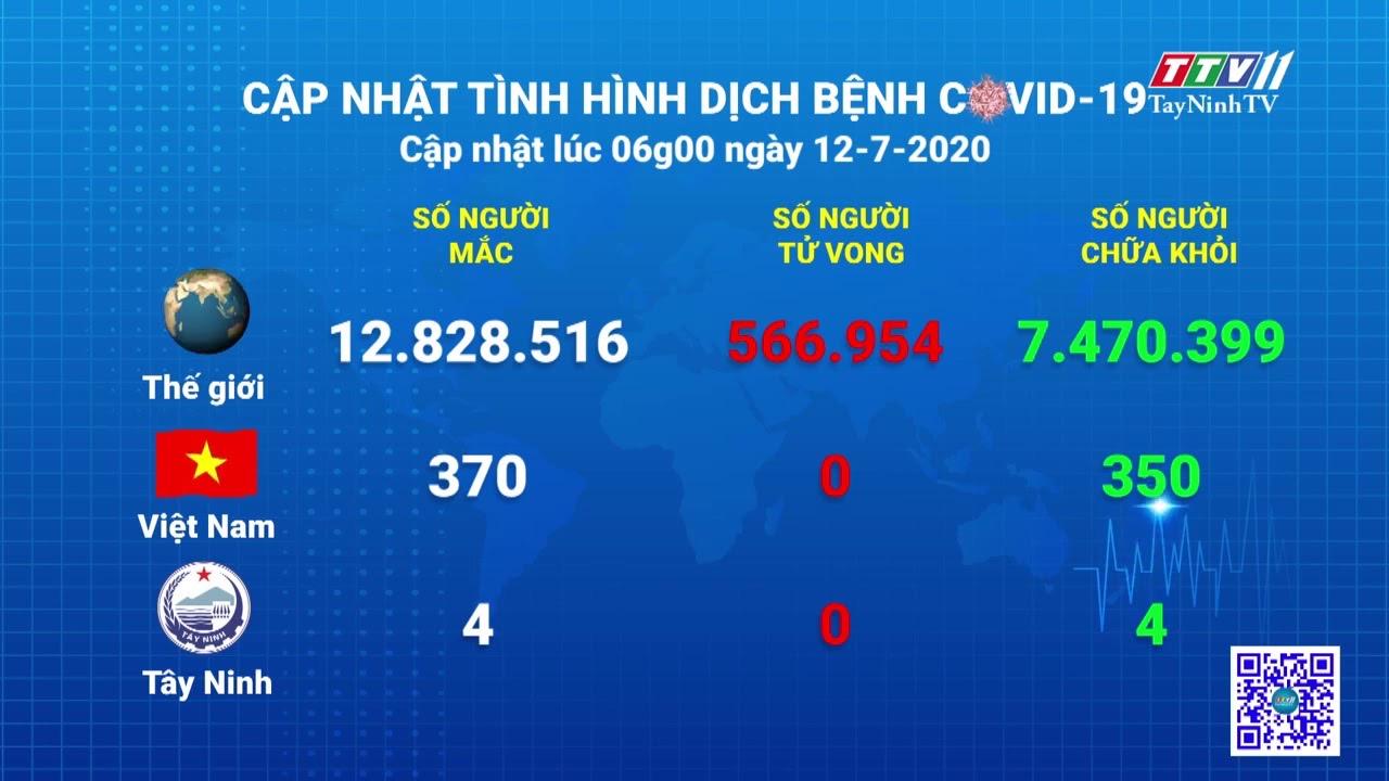 Cập nhật tình hình Covid-19 vào lúc 6 giờ 12-7-2020   Thông tin dịch Covid-19   TayNinhTV