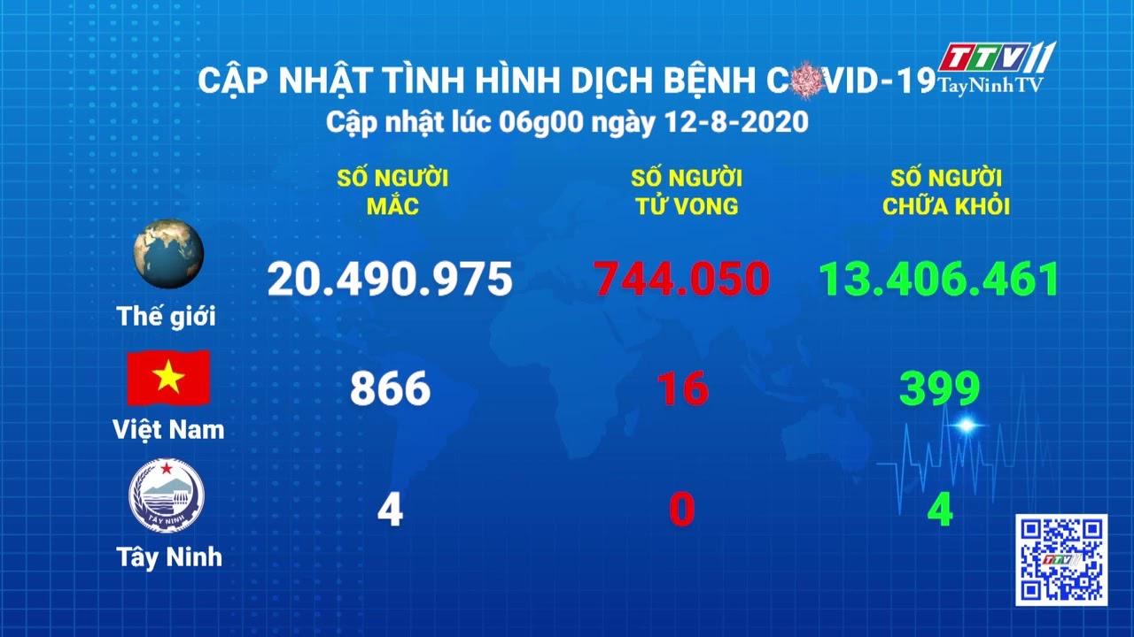 Cập nhật tình hình Covid-19 vào lúc 06 giờ 12-8-2020 | Thông tin dịch Covid-19 | TayNinhTV